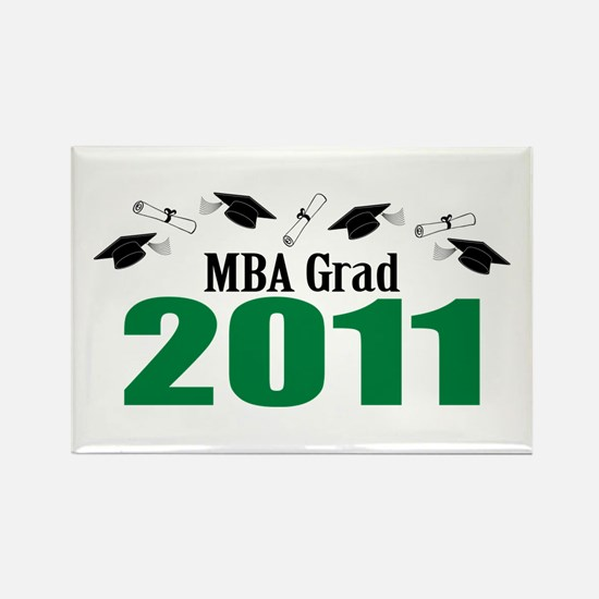MBA Grad 2011 (Green Caps And Diplomas) Rectangle