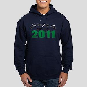 MBA Grad 2011 (Green Caps And Diplomas) Hoodie (da