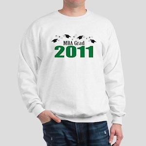 MBA Grad 2011 (Green Caps And Diplomas) Sweatshirt