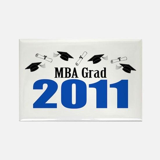 MBA Grad 2011 (Blue Caps And Diplomas) Rectangle M