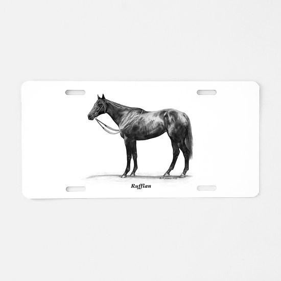 "Thoroughbred ""Ruffian"" Aluminum License Plate"