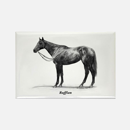 "Thoroughbred ""Ruffian"" Rectangle Magnet"