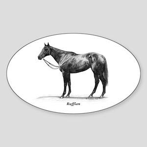 "Thoroughbred ""Ruffian"" Sticker (Oval)"