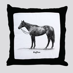 "Thoroughbred ""Ruffian"" Throw Pillow"
