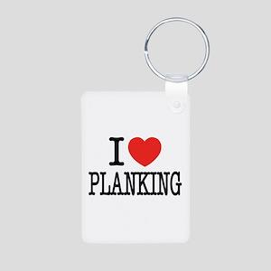 I Love (Heart) Planking Aluminum Photo Keychain