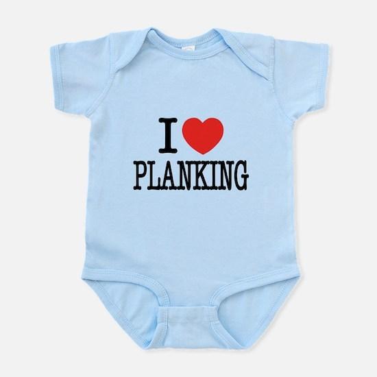 I Love (Heart) Planking Infant Bodysuit