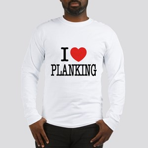 I Love (Heart) Planking Long Sleeve T-Shirt