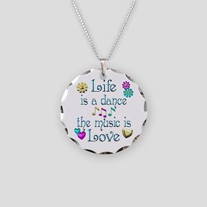 Live Dance Love Necklace Circle Charm