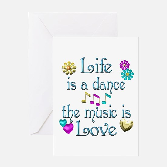 Live Dance Love Greeting Card