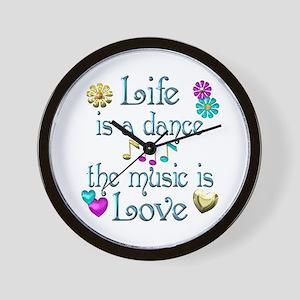 Live Dance Love Wall Clock