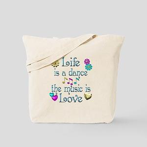 Live Dance Love Tote Bag