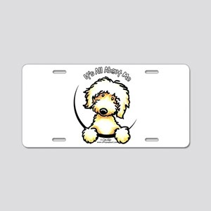 Yellow Labradoodle IAAM Aluminum License Plate