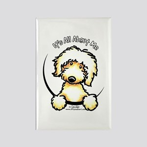 Yellow Labradoodle IAAM Rectangle Magnet
