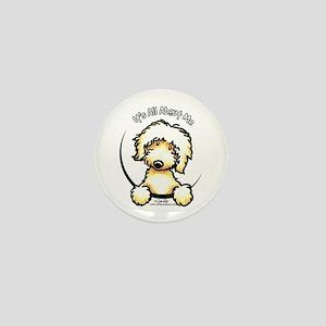 Yellow Labradoodle IAAM Mini Button