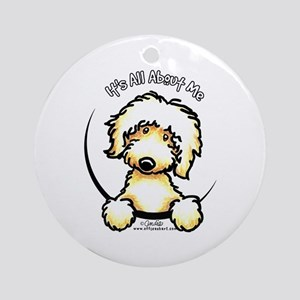Yellow Labradoodle IAAM Ornament (Round)