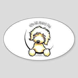 Yellow Labradoodle IAAM Sticker (Oval)