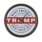Trump Maga Large Wall Clock