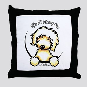 Yellow Labradoodle IAAM Throw Pillow