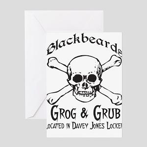 Blackbeards grog and grub Greeting Card