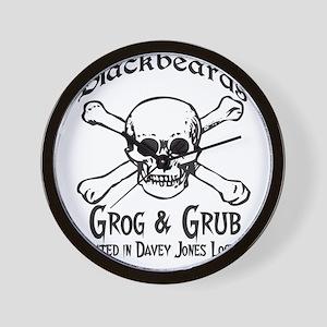 Blackbeards grog and grub Wall Clock