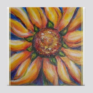 Sunflower, colorful, Tile Coaster