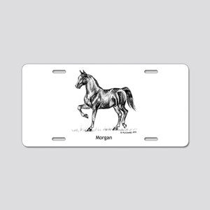 Morgan Horse Aluminum License Plate