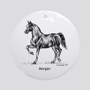 Morgan Horse Ornament (Round)