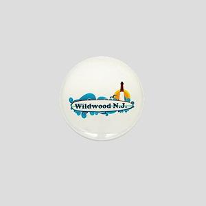 Wildwood NJ - Surf Design Mini Button