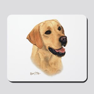 L:abrador Retriever (Yellow) Mousepad