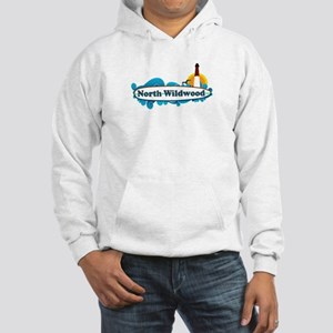 North Wildwood NJ - Surf Design Hooded Sweatshirt