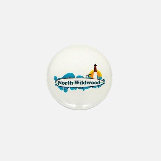 North Wildwood NJ - Surf Design Mini Button