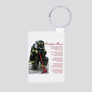 Firefighter Prayer Aluminum Photo Keychain