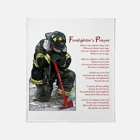 FIREFIGHTER PRAYER Throw Blanket