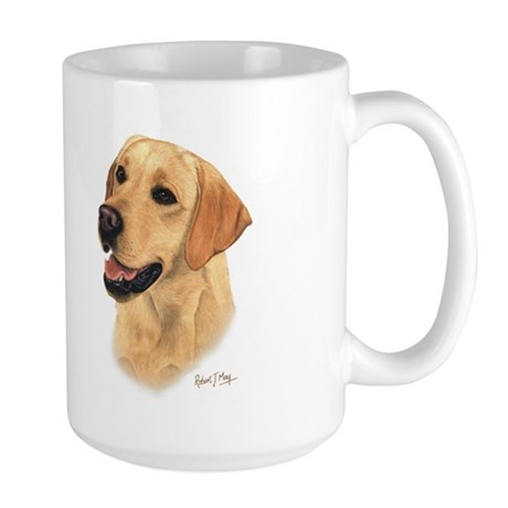 L:abrador Retriever (Yellow) Large Mug