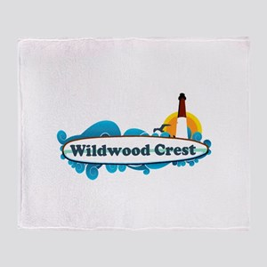 Wildwood Crest NJ - Surf Design Throw Blanket