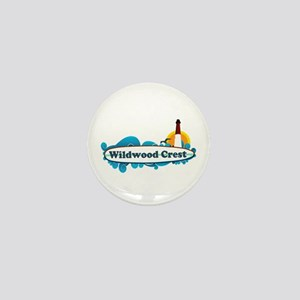 Wildwood Crest NJ - Surf Design Mini Button