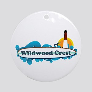 Wildwood Crest NJ - Surf Design Ornament (Round)
