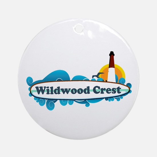 Wildwood Crest NJ - Surf Design Ornament (Round)