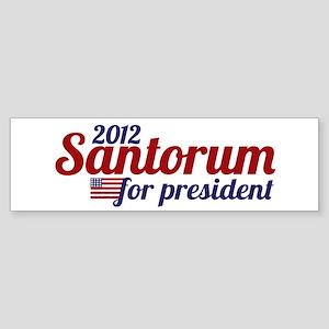 Rick Santorum 2012 Sticker (Bumper)
