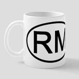 RM - Initial Oval Mug