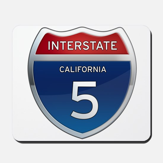 Interstate 5 - California Mousepad