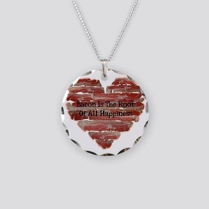 Bacon Happiness Necklace Circle Charm