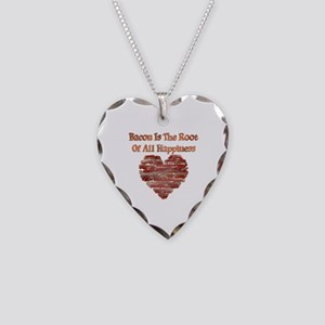 Bacon Happiness Necklace Heart Charm