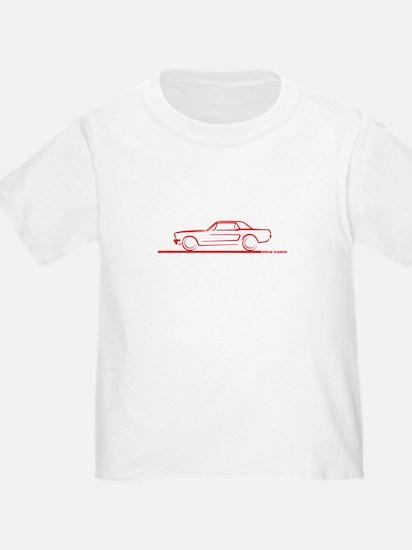 64_66_Mustang_Hard_Top_Red T-Shirt