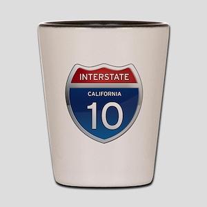 Interstate 10 - California Shot Glass