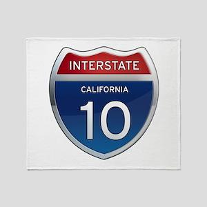 Interstate 10 - California Throw Blanket