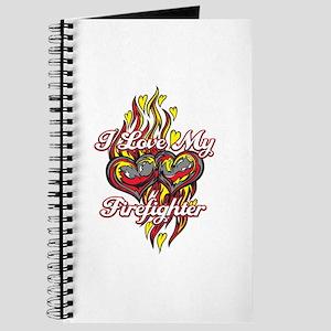 I Love My Firefighter Journal