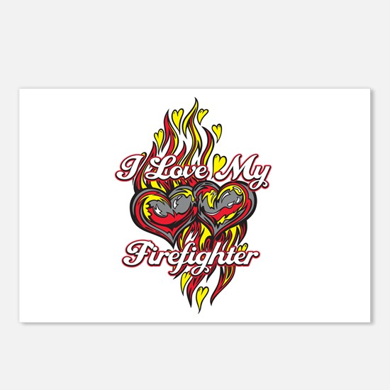 I Love My Firefighter Postcards (Package of 8)