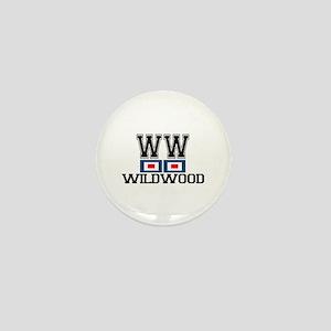 Wildwood NJ - Nautical Flags Design Mini Button