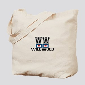 Wildwood NJ - Nautical Flags Design Tote Bag
